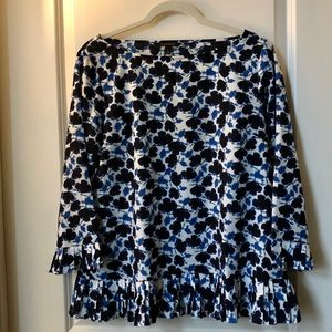 Banana Republic Floral Blouse with Pleating Sz. M